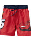 DISNEY PIXAR CARS / OLD NAVY Boys 12-18 18-24 2T Red Swim Trunks Shorts Suit NEW