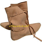 Medieval Leather Shoe Brown High Quality Boots Long with Leather Laces