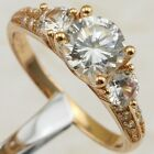 Size 6 7 Awesome Nice White CZ Gems Jewelry Rose Gold Filled Woman Ring R1872-11