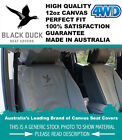 Black Duck Canvas Seat Covers Ford Ranger PX Space Cab Rear Jump only 7/11-5/15