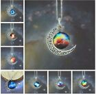 Fashion Necklace Starry Sky And Moon Time Precious Stones Vintage Jewelry 1pc
