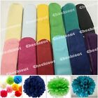 "12pc Pom Pom 4"" 8"" 12"" Tissue Paper Color Flowers Wedding Party Craft Decoration"