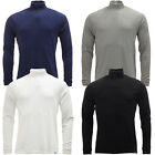 D555 Mens Long Sleeve Roll Neck T-Shirt Lightweight New S M L XL XXL