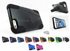 Apple iPhone 6 PLUS (5.5 inch) Sleek Rugged Hard/Soft Stand Case Cover+PryTool