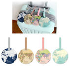 World Map Name Tag - Travel Luggage Round Name Tag - Pvc - Cute Travel Accessory