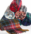 Winter Neck Scarf Brushed Lambswool H to R Scottish Plaid Ships free in US