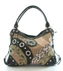Signature G Jacquard Patchwork Snakeskin/Cheetah/Python Hobo - BROWN