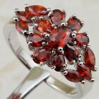 Size 6 7 8 9 Gorgeous Nice Garnet Red Gems Jewelry Gold Filled Lady Ring K2107