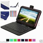 Pen & Micro Keyboard Leather Case For 7 RCA 7 Voyager RCT6773W22 Android Tablet