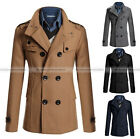 Men Vintage Trench Coat Jacket Outwear Slim Fit Suit 4 Colors MCOAT182