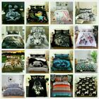Wolf Quilt/Doona/Duvet Cover Set Blue Single/Double/Queen/King Size Bed Animal