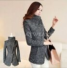 Free Shipping Womens Slim Long Sleeve Jacket Warm Coat Outwear Parka Trench FUS