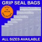 Grip Seal Bags GRIPSEAL Resealable Clear Plastic Polythene Cheapest Grip seals