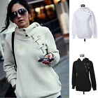 NEW Hooded Jumper Jacket Ladies Casual long Sleeve Hoodie Coat Top Plus Size8-22
