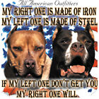 American Dogs IF LEFT ONE DON'T GET YOU RIGHT WILL 50/50 Gildan/Jerzees T SHIRT