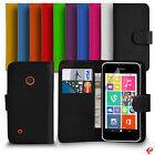 NOKIA LUMIA 530 FLIP WALLET PU LEATHER CASE COVER SCREEN PROTECTOR