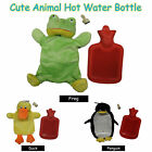 Adorable WINTER Hot Wattle Bottle with Cover - FROG DUCK PENGUIN HIPPO
