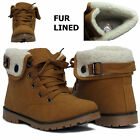 GIRLS HI HIGH TOPS KIDS TRAINERS FUR LINED CUFFED FLAT ANKLE BOOTS SHOE SIZES UK