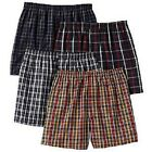 4 pack of MENS COTTON LOOSE-FIT Checkered Plaid BOXER SHORTS sizes S-XXL