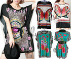 BOHEMIA KAFTAN TUNIC LONG TOP/BEACH BIKINI COVER UP/ MINI DRESS AU SELLER T111