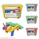 57185 48x Clothes Pegs Hanging Plastic 2x Storage Baskets Holder Washing Laundry