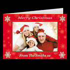 Personalised Photograph Christmas Cards + Envelopes FOLDED or POSTCARD Style D02
