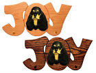 American Cocker Spaniel Joy Leash Holder. In Home Wall Decor Wood Product Gifts.