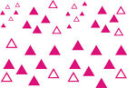 42 x TRIANGLE Pack Stickers - car bike wall art windows vehicles - graphic/decal