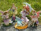 LAST FEW FAIRY FIGURINE ORNAMENT £5 SALE WITH FLOWERS OR MOON HANGING DECORATION