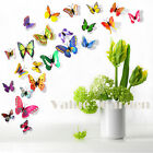 DIY 12Pcs Magnet 3D Butterfly Wall Sticker Removable Stickers Room Decor Murals