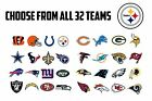 "63 NFL Team Logo Envelope Seals / Labels / Stickers - 1"" Round - Choose Any Team"