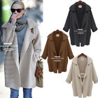 New Lady Oversized Loose Knitted Sweater Batwing Sleeve Cardigan Outwear Jacket