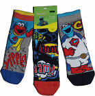 Boys Girls Socks 3 Pairs Sesame St Elmo Cookie Monster 6-8.5 and 9-12 shoe size