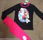 New Disney Frozen Elsa Anna Olaf girls long pyjamas nightwear sleepwear