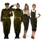 WW2 1940's ARMY MILITARY MENS & LADIES FANCY DRESS COSTUME SIZE S-XL