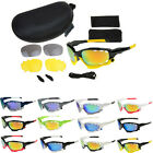 UV400 Cycling Riding Bicycle Sports Skiing Protective Goggle SunGlasses W/3 lens