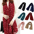 Fashion Women Lady Polka Dots Spot Chiffon Soft Shawl Scarf Neck Wrap Headscarf