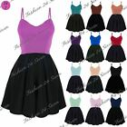 Womens Ladies Padded Boobtube Bandeau Sleeveless Contrast Flared Skater Dress