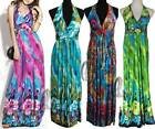 AU STOCK BOHEMIA PARTY BEACH PADDED BUST MAXI DRESS BIKINI COVER UP DR142