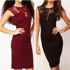 Sexy Women Lace Backless Slim Bodycon Mini Dress Party Cocktail Evening Dress
