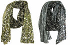 Cejon Women's Mettalic Glitter Design With Sequins Winter Scarf NWT Pick Color