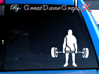 Weight Lifting Vinyl Decal Sticker - Color Choice - HIGH QUALITY