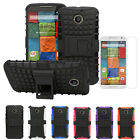 Armor Rugged Hybrid Grip Stand Case+Screen Protector For Motorola Moto X 2nd Gen