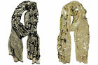Cejon Women's Polyester Geometric Scarf With Large/Small Sequins Pick Color NWT