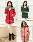 Womens Down Jacket Long Coat Hooded Winter Big Warm Outerwear Fashion FUS