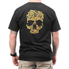 5.11 TACTICAL SKULL CALIBER LOGO MENS T-SHIRT GRAPHIC TEE SHORT SLEEVE TOP BLACK
