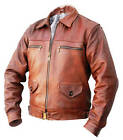 NEW FLYING JACKET genuine leather Pilots Flight Coat s m l xl WWll brown