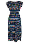 New Evans Skater Midi Dress Blue White Stripe Print Sizes 16 - 28