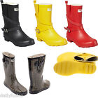 Women Flat Rubber Rain Boots Short Ankle Mid-Rise Waterproof * Lined Snow Boots