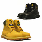 Mens Leather Goodyear Welted Hiker Safety Steel Toe Work Ankle Boots Shoes Size